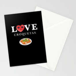 Cuban Croquetas Lovers print Stationery Cards