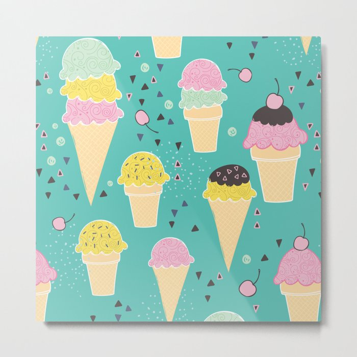Ice-Cream Party Metal Print