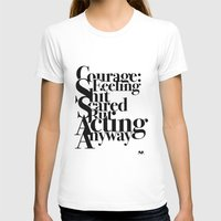 courage T-shirts featuring Courage by blugge