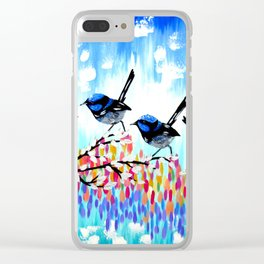 Fairy Wrens Clear iPhone Case
