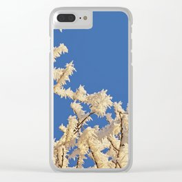 Frosted Trees Winter Clear iPhone Case