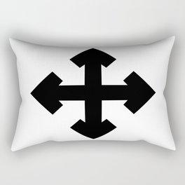 Pointed Krückenkreuz Crutch Cross Martial Heathen symbols Rectangular Pillow