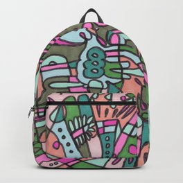 I Found my Friends (Pink/Green) Backpack
