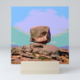Rock bretagne Mini Art Print