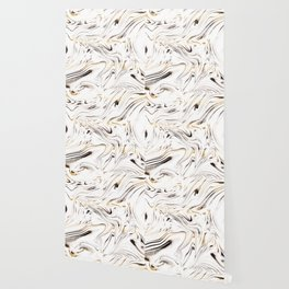 Liquid Gold Silver Black Marble #1 #decor #art #society6 Wallpaper