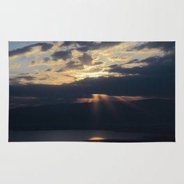 Sunrise over the Dead Sea Rug