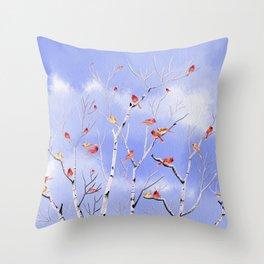 Winter Song 5 Throw Pillow