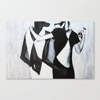 gucci Canvas Prints featuring Gucci Girl Girl by Chuck and Chelsea