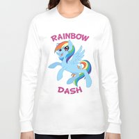 mlp Long Sleeve T-shirts featuring MLP FiM: Rainbow Dash by Yiji