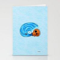 aquarius Stationery Cards featuring Aquarius by Giuseppe Lentini