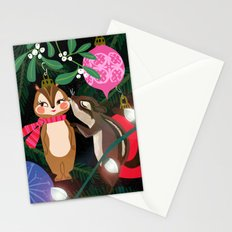 Chipmunk Kisses Holiday Card Stationery Cards