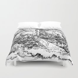 symptomatic recline Duvet Cover