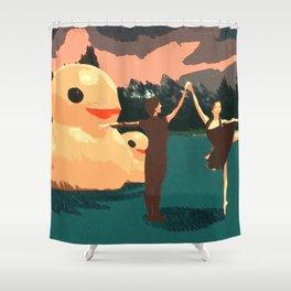 Duck Lake Shower Curtain