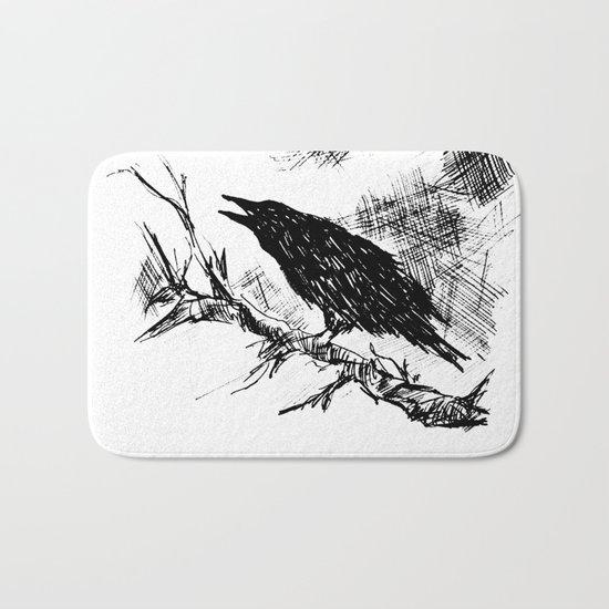 Crow edit version 2 Bath Mat