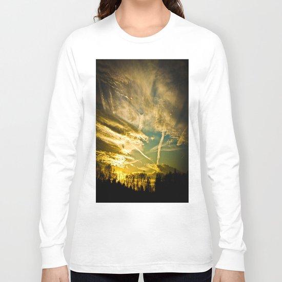 Sundown Sky Planes  Long Sleeve T-shirt