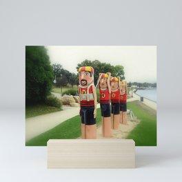 Sculptured 1930s Life Savers Bollards  Mini Art Print