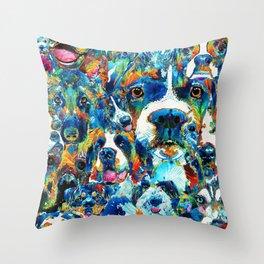 Dog Lovers Delight - Sharon Cummings Throw Pillow
