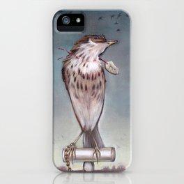 Yearning on a limb. (Bird) iPhone Case