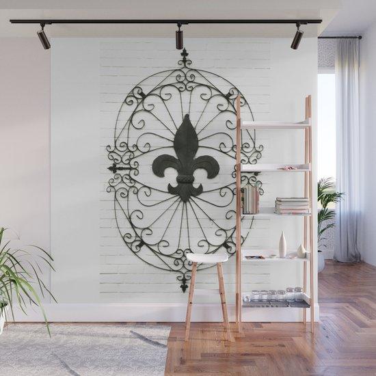 Wrought Iron Fleur De Lis Wall Decor from ctl.s6img.com