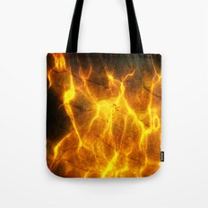 Watery Flames Tote Bag
