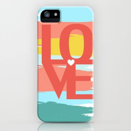 love abstract background iPhone Case