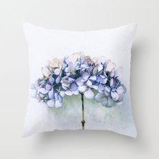 Delicate Hydrangea Throw Pillow