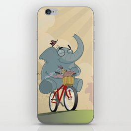 Mr. Elephant & Mr. Mouse 'Bicycle' iPhone Skin