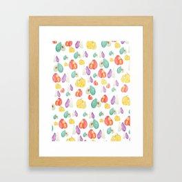 colorful veggie party Framed Art Print