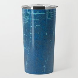 Miami Florida vintage map year 1950, blue usa maps Travel Mug