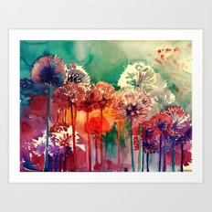 Allium 2 Art Print