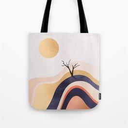 The Flowing Golden Desert Tote Bag