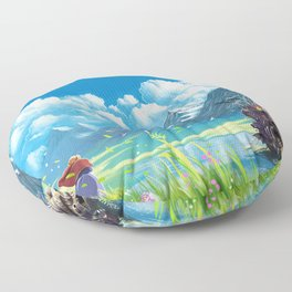 Howls Moving Castle Floor Pillow