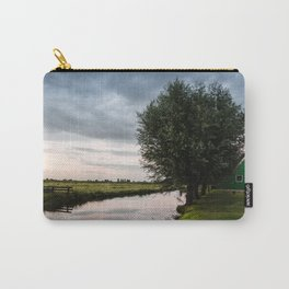 Green cottage at summer sunset Carry-All Pouch