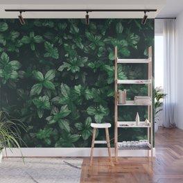 Green Leaves Wall Mural