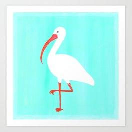 Tropical Ibis Art Print