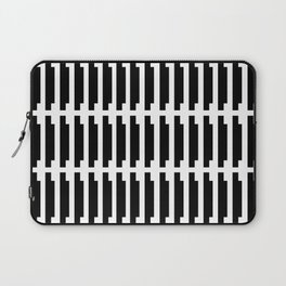 shadow stamp. black and white pattern Laptop Sleeve