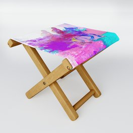 poloplayer abstract redblue Folding Stool