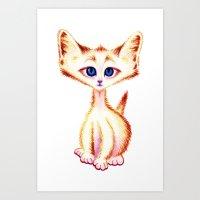 Lil Kitten card Art Print