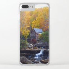 Glade Creek Mill in Autumn Clear iPhone Case