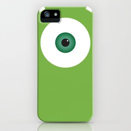 PIXAR CHARACTER POSTER - Mike Wazowski 2 - Monsters, Inc. iPhone Case