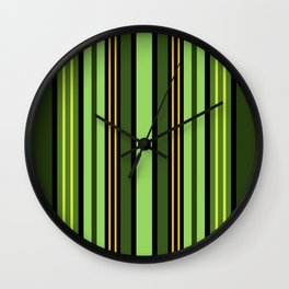Nature's Stripes Wall Clock