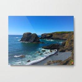 Coastal Wave Metal Print
