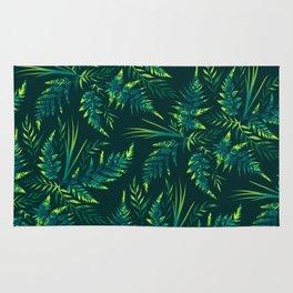 Fern leaves - green Rug