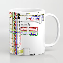 Colorful electric scheme Coffee Mug