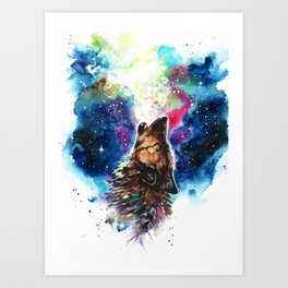 Moonlight singing Art Print