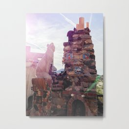 Stone Cat at Mystery Castle Metal Print