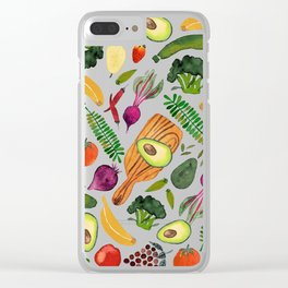 Raw food Clear iPhone Case