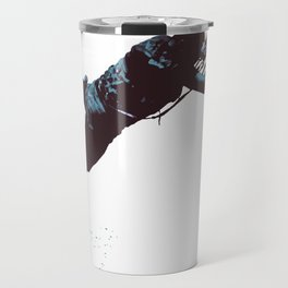 Kite And Surfboard Freestyle Silhouette Vector Travel Mug