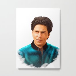 Shah Rukh Khan is a King of Bollywood, Digital Painting Metal Print