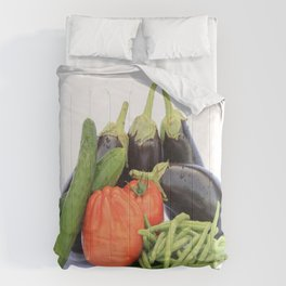 Vegetables together Comforters
